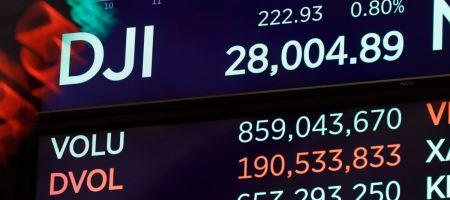 Dow Jones упал к минимуму месяца